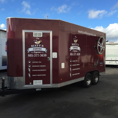 Matts Coffee Express Trailer